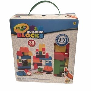 NIB CRAYOLA 35 pc Building Blocks